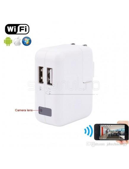 Adaptor Dual USB cu camera spion WIFI