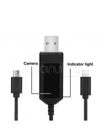 Cablu de date cu camera spion HD